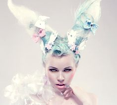 Bunny ears hair.. I want to do this for a photo shoot soon.