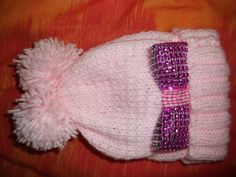 Bling Bow Babies Hat - Knitting creation by mobilecrafts