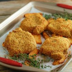 Crispy Mustard Breaded Pork Chops with Sweet Potato Wedges - See more at: http://www.rachaelrayshow.com/recipes/21932_crispy_mustard_breaded_pork_chops_with_sweet_potato_wedges/#sthash.z0rVwmwD.dpuf