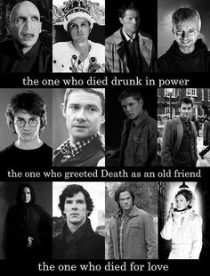 The Tale of Three Brothers for Harry Potter, Sherlock, Supernatural, and Doctor Who.