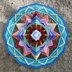 12 sided Ojos de Dios by Jay Mohler.  Beautiful Thread Art