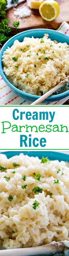 Rice Creamy Parmesan Rice with lots of cheese and garlic flavor.Creamy Parmesan Rice with lots of cheese and garlic flavor. Rice Cooker Recipes, Cooking Recipes, Healthy Recipes, Yummy Rice Recipes, Recipes With White Rice, Boiled Rice Recipes, Simple Rice Recipes, Dinner Recipes With Rice, Vegetarian Rice Recipes