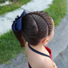 Lasten Sark It Kattokruunu Lil Girl Hairstyles, Party Hairstyles, Braided Hairstyles, Middle Hair, Competition Hair, Cabello Hair, Hair Due, Short Hair Styles, Hair Beauty