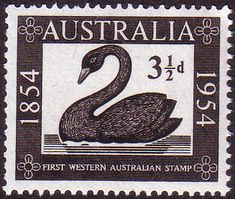 Australia 1954 SG 277 Western Australia Fine Mint SG 277 Scott 274 Condition Fine LMM Only one post charge applied on multipule purchases Details N B