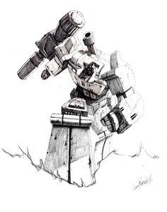 """Best of Megatron"" IDW pencils by LivioRamondelli"