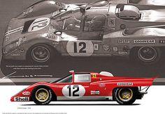 Ferrari 512M Le Mans 1971 by Luc Cannoot