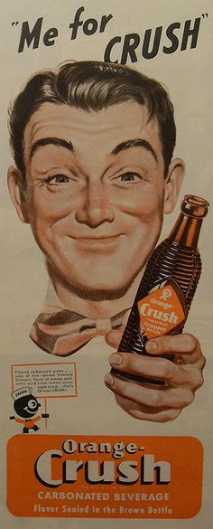 Orange Crush Retro Advertising, Vintage Advertisements, Vintage Ads, Vintage Food, Funny Commercials, Funny Ads, Orange Soda, Lime Soda, Retro Cooler