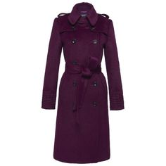 SENTALER Luxury Outerwear Double Breasted Trench Coat (86.900 RUB) ❤ liked on Polyvore featuring outerwear, coats, double-breasted trench coat, purple trench coat, double breasted coat, purple coat and trench coat