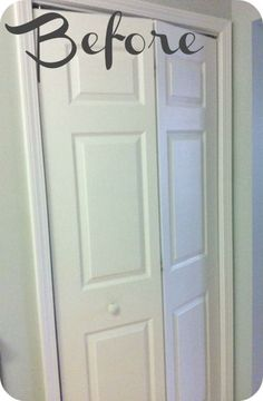 how to turn a bi fold door into a double door, closet, doors, Before basic bi fold door