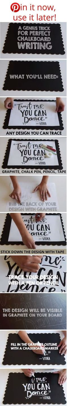 How to write on chalkboards EASY