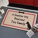 Shelter Dog Rescued Doormat