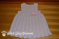 3-6 months Crochet dress by BellasBabyTreasures on Etsy