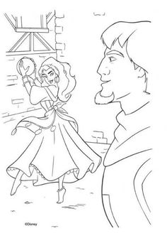 The Hunchback Of Notre Dame Coloring Book Pages