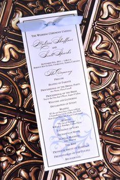 - I like these classy programs -  Wedding Program (Sasha) by Wiregrass weddings