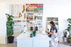 Achieving Max-Org: How We Stay Organized in Our Sewing Studio Sewing Room Design, Sewing Studio, Sewing Rooms, Sewing Room Organization, Studio Organization, Interior Design Studio, Studio Design, Dream Decor, Staying Organized