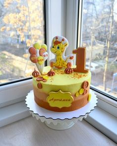 Фотография Royal Icing Cakes, Buttercream Cake, Novelty Birthday Cakes, First Birthday Cakes, Cake Cookies, Cupcake Cakes, Baby Girl Cakes, Sweet Bakery, Bakery Cakes