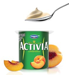 I love starting my day with Activia Peach Yogurt. (I think ALL Old people love yogurt!)
