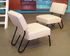 "Chauffeuse ""Mérignac"", Conception 1953, Édition Tubauto Mid-century Modern, Dining Chairs, Mid Century, Designer, Furniture, Artwork, Home Decor, Steel, Work Of Art"