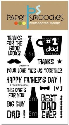 Paper Smooches DADDY YO Clear Stamps M1S242 zoom image