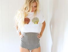 Oversized Mermaid Cut Off Crop Top by saltontherocks on Etsy, $28.00