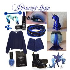 Princess Luna Costume by laurakhamner on Polyvore featuring Monki, My Little Pony and Dr. Martens
