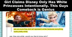 Girl Claims Disney Makes Princesses All White On Purpose
