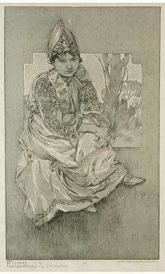 ❤ - Alphonse Mucha   Documents Decoratifs.