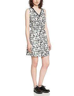 UK 8 (Manufacturer size: 36), Multicoloured (Off White), Naf Naf Women's Limage