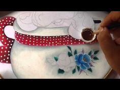 Pintura en tela vaquita # 2 con cony - YouTube