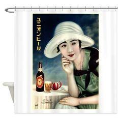 Nippon Beer (Japan) 1932 Shower Curtain on CafePress.com