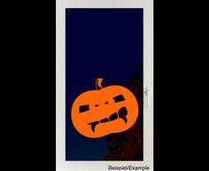 Deko Halloween - Vampir-Kürbis - Halloween - Folien-Tattoo - ein Designerstück von CatrinKerschl bei DaWanda