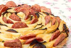 Rosa di Sfoglia Zucchine e Salame