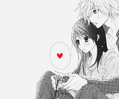 video games, black and white, anime couple