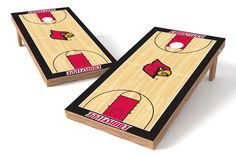 Louisville Cardinals Cornhole Board Set - Hoops