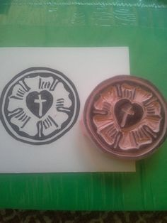 Check out this item in my Etsy shop https://www.etsy.com/listing/190116677/lutheran-rose-hand-carved-rubber-stamp