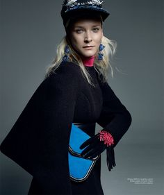 Carmen Kass on Harper's Bazaar Mexico Fashion Magazine October 2015 editorial
