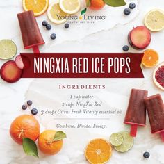 NingXia Red ice pops- yum!