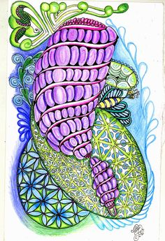 Love Light and Peace: I am the DIVA... layers of tangles this week...