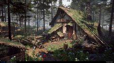 Cabin (personal project), Tim Nijs on ArtSt . - Forest Cabin (personal project), Tim Nijs on ArtSt … –Forest Cabin (personal project), Tim Nijs on ArtSt . - Forest Cabin (personal project), Tim Nijs on ArtSt … – Witch Cottage, Witch House, Forest Cabin, Forest House, Forest Village, Forest Cottage, Fantasy Concept Art, Fantasy Artwork, Fantasy House