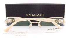 545a9df50835 Brand New Bvlgari Eyeglass Frames 2168B 361 Gold Ivory for Women Size 54mm