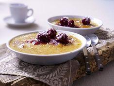 Unser beliebtes Rezept für Kokos-Crème-brûlée mit heißen Kirschen und mehr als 55.000 weitere kostenlose Rezepte auf LECKER.de.