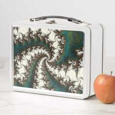 Infinite Fractal Roots of the World Tree Yggdrasil Metal Lunch Box - kitchen gifts diy ideas decor special unique individual customized