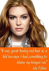Isla Fisher Famous Redhead
