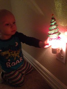 The magic of a first Christmas......