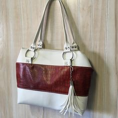 Minimalist Purse Structured Handbag Medium Tassel Bag Faux Leather Classy Canada 150 Classic