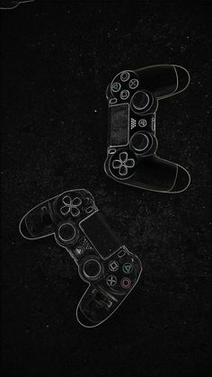 drawn (using chalk) game controllers wallpaper Video Game Posters, Video Game Art, Game Wallpaper Iphone, Mobile Wallpaper, Screen Wallpaper, Gaming Wallpapers, Cute Wallpapers, Dark Wallpaper, Flash Wallpaper