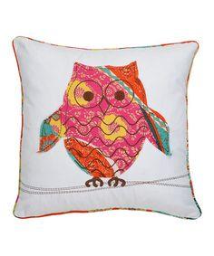 Owl Zanzibar Pillow #zulily #zulilyfinds