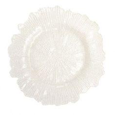 "Koyal Wholesale 13"" Flora Glass Charger Plate Color:"