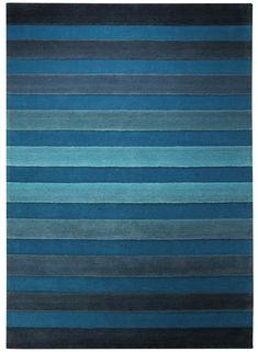 Tapis bleu CROSS WALK bleu de la collection Esprit