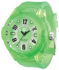 Tendence 02013042 Rainbow Green 52mm Watch Tendence. $40.00. Water-resistant to 165 feet (50 m). Mineral crystal. Precision quartz movement. Case: 52mm polycarbonate. Green case, dial and rubber strap; black & white hour, minute and second hands; 2-year manufacturer warranty; unisex